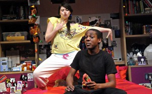 photo of Rachael Tice and Thaddeus Fitzpatrick in Olney Theatre's play I and You