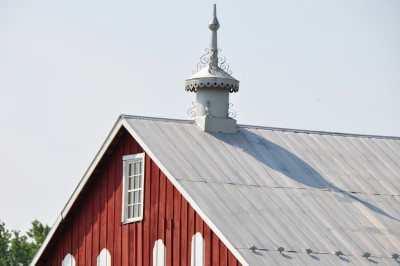 roof line of barn on Red Wiggler Farm