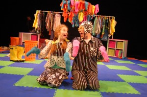 photo Megan Graves and Bradley Foster Smith in Imagination Stage's show Inside Out