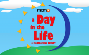 graphic for MCM Day in the Life of Montgomery County