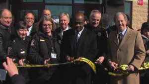 photo ribbon cutting at animal shelter