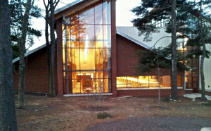 early morning photo of new Olney Library