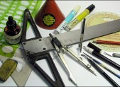 photo of writing tools