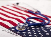 Stethoscope  on a USA flag