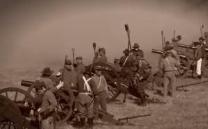 photo of civil war reenactment