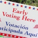 photo of early voting sign