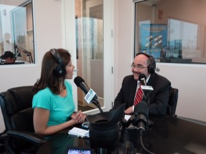 photo of Julie Rios Little and County Councilmember George Leventhal on Tuned In with the Montgomery County Council April 25, 2014