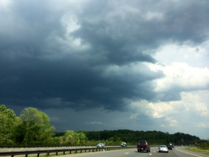 thunderstorm clouds over intercounty connector 5-23-14