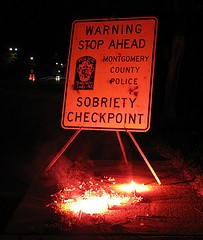 photo of sobriety checkpoint