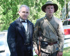 "photo of reenacters at 2013 ""Heritage Days"" festival in Rockville"