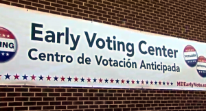 photo of sign on early voting center