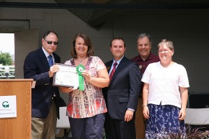 photo of : Mayor Sidney Katz, Gail Norris, Council Members Ryan Spiegel, Henry Marraffa, Cathy Drzyzgula