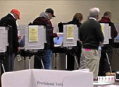 phot of Voters at voting center
