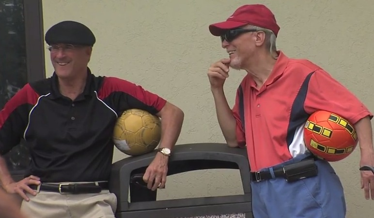 photo of footgolf players