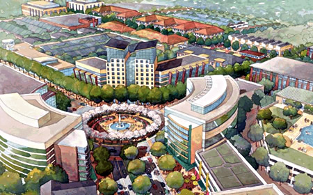 photo of Montgomery Planning's rendering for White Oak Science Gateway