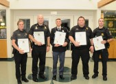 City of Gaithersburg Police Officers Chris Leach & Nathan Provost & Montgomery Count Police Officers Sergeant Robert Lumsden, Officer Matthew Stoycos, Officer Andrew Ingalls and Officer Amy Krone were awarded the Distinguished Service Citation at the GGCC's 19th Annual Public Safety Awards breakfast on August 8, 2014. They were awarded the citation for their life-saving tactics involving Officer Chris Leach who suffered a deep laceration when he responded to a call involving a dispute between two juveniles. These officers were not only able to save Officer Leach's life but were able to control the scene and administer first aid to one of the juveniles who suffered injuries as well. 