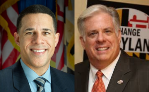 photo of Anthony Brown and Larry Hogan