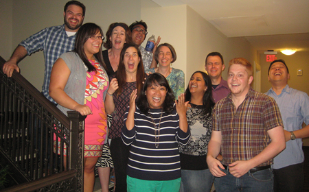 photo of a cappella group impitched