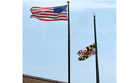 Maryland state flag at half mask for slider 450x280