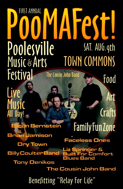 photo of event flyer for Poolesville Music & Arts Festival