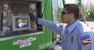 photo of shredding truck and operator