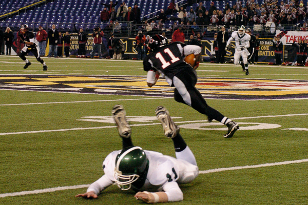 MD 4A Championship - 2007 with a Hawkins interception against Arundel
