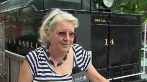 photo of Nansie Wilde at Gaithersburg Train Museum