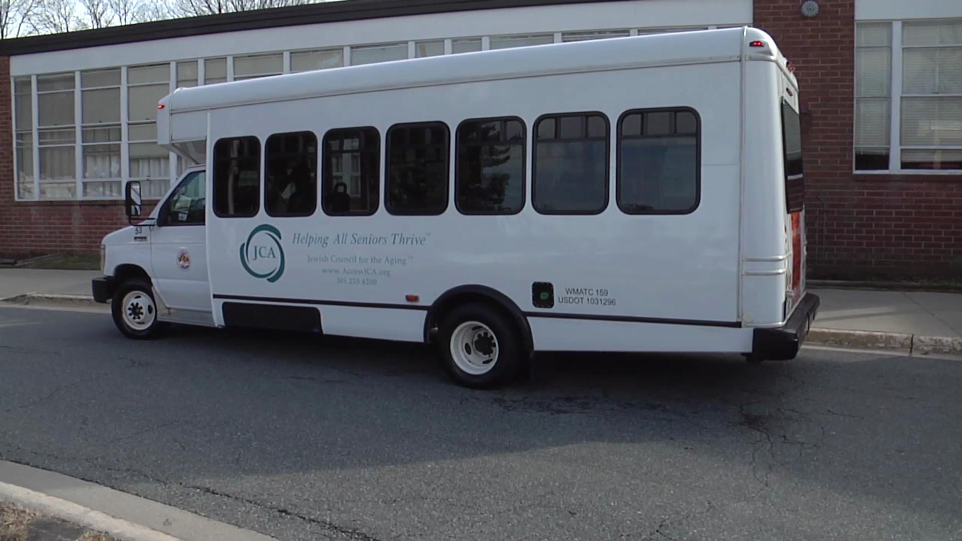 photo of senior transportation van