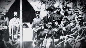 Civil War era photo of Union soldiers