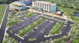 artist rendering of new Holy Cross Germantown Hospital