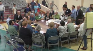 photo of Takoma Park residents meeting with EYA over redevelopment