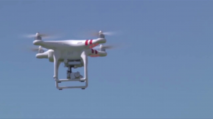 photo of drone flying
