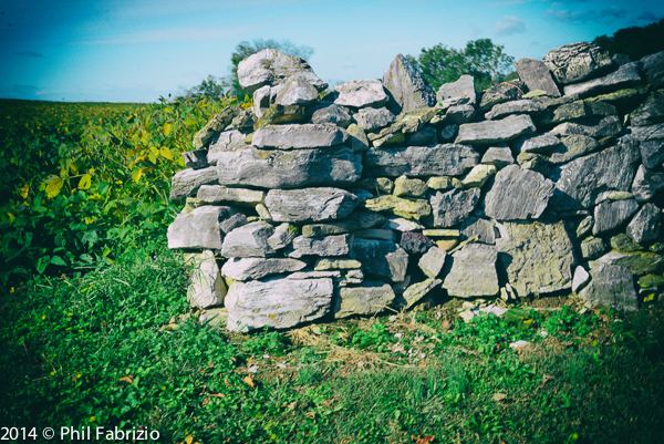 A stonewall near Antietam Creek in Antietam MD