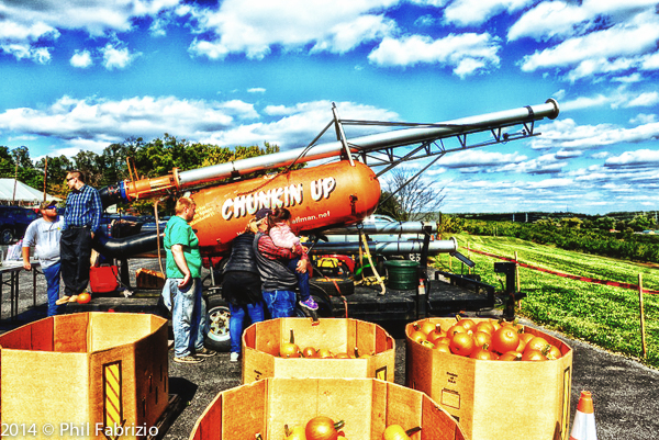Chuckin Pumkins at Lewis Orchard in Boyds MD