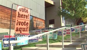 Silver Spring Civic Building with Vote Signs