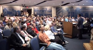 photo of Takoma Park community meeting on redevelopment of Takoma Junction lot