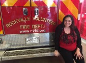 Marcie at the Rockville Volunteer Fire Dept