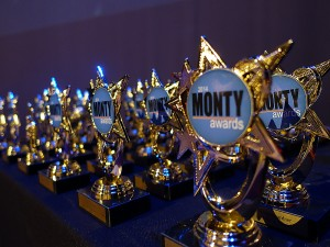 Monty Awards on table
