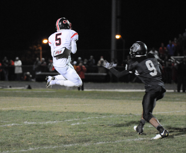 QO's #5 Shawn Barlow who had 3 Interceptions in this game against NW
