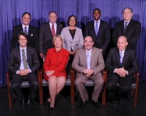 18th County Council … The 18th County Council of Montgomery County was inaugurated on Dec. 1, 2014. Each member was elected to a four-year term. Seated, left to right: Hans Riemer, Nancy Floreen, George Leventhal and Tom Hucker. Standing: Roger Berliner, Sidney Katz, Nancy Navarro, Craig Rice and Marc Elrich.  Photo | Clark W. Day