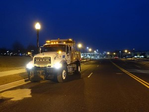 Salt Trucks Along I-270 before dawn