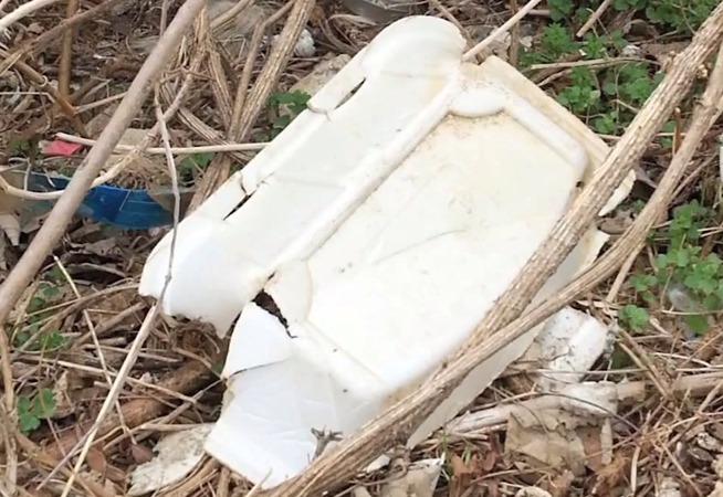 photo of Styrofoam in trash