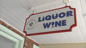 photo of county Liquor & Wine store sign