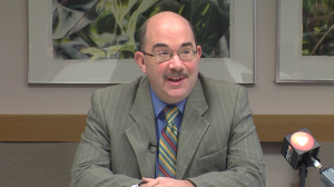 photo of montgomery county council president george leventhal at feb 2 media briefing