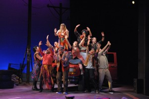 photo of The cast of GODSPELL at Olney Theatre Center.