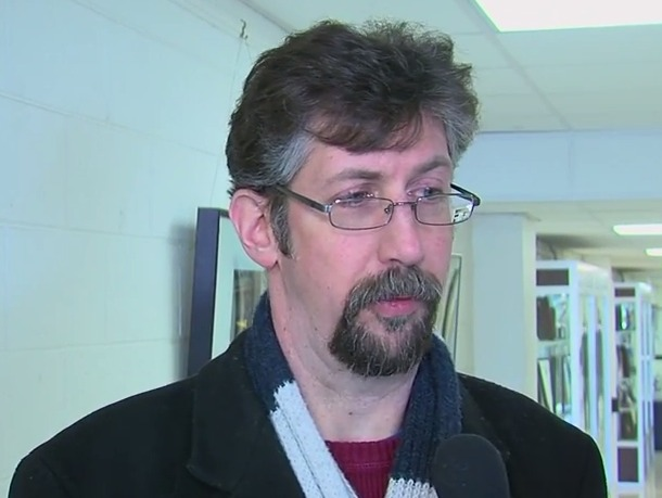photo of mcps parent Jamison Adcock following Joshua Starr's resignation
