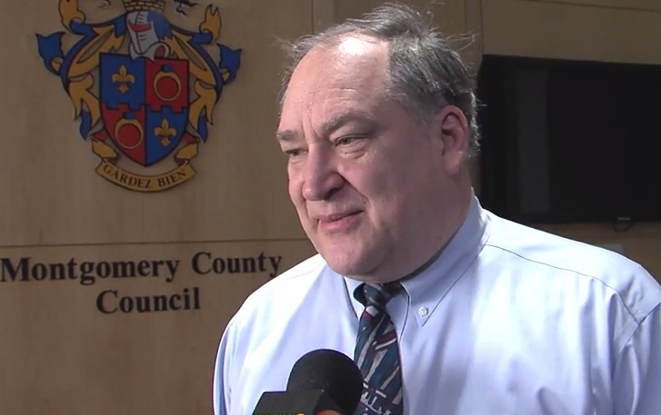 photo of councilmember Marc Elrich commenting on Starr's resignation