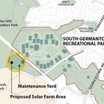 map of proposed solar farm area in South Germantown Recreational Park