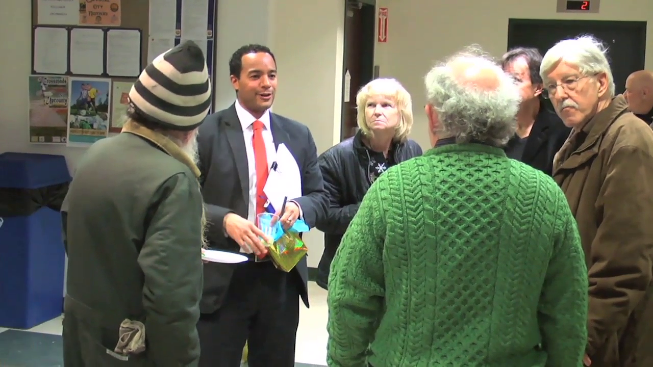 photo of reception for Takoma Park's Brian Kenner who left as city manager