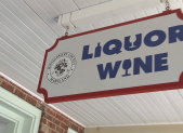 County Liquor Store Sign